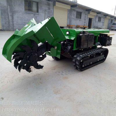 多功能柴油大马力施肥机型号 柴油撒肥机 普航履带开沟机
