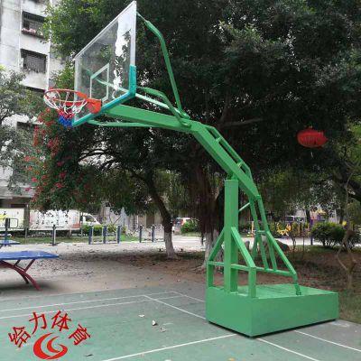 阳江市学校篮球场塑胶球场木地板球场移动篮球架