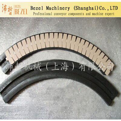 供应882系列链板配套弯轨 超高分子转弯链板弯导轨 输送机配件