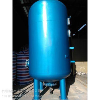 D1000*1800 碳钢衬胶3mm 活性炭机械过滤器