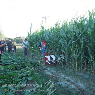 玉米秸秆晾晒割倒机 柴油山区前置收割机 润众