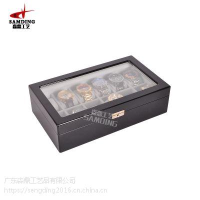男款实木表盒生产,木制手表盒,男装表木盒定做-冠裕包装