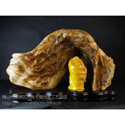 崖柏工艺品陈化料根雕工艺品摆件龙门石窟罗汉 木雕件送榧木佛像
