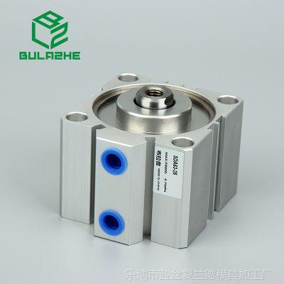 布拉者薄型气缸SDA63-5/10/15/20/25/100带磁SDAS亚德客型
