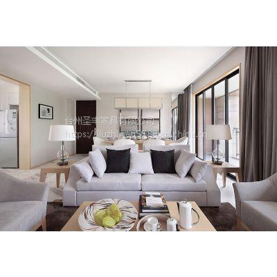 圣丰 简约现代沙发售楼部户型洽谈客厅样板房双人位沙发定做成套家具