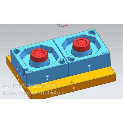 黄岩注塑模具 方形打包盒 一出二快餐盒注射成型模具