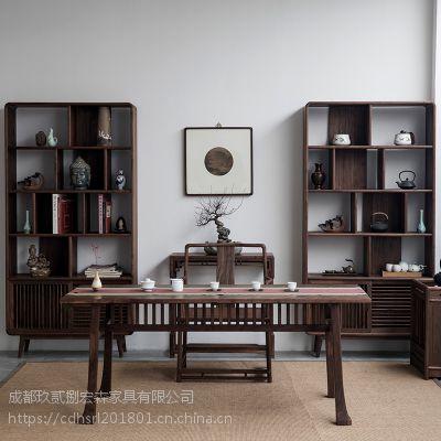西安禅意新中式茶楼家具定做 西安新中式茶楼家具厂家
