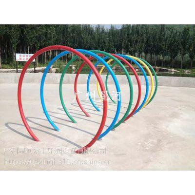 广州市儿童戏水小品设备定做 七彩喷水走廊设备生产厂家