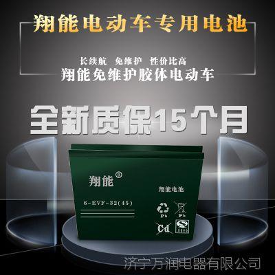 量大包邮6-EVF-32免维护胶体蓄电池12v48v60v32ah电动车专用电瓶