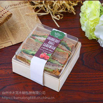 雪媚娘 蛋黄酥包装盒 小面包 泡芙原木烘焙盒 天然木材