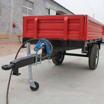 达丰机械厂家直销1吨欧式拖车 出口型农用拖车拖斗 规格拖拉机后斗 运输挂斗
