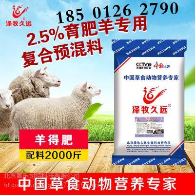 泽牧久远肉羊育肥饲料/育肥羊饲喂方法