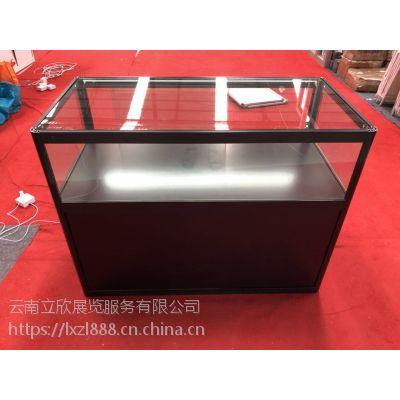 云南本地高档玻璃展柜铝合金展柜租赁