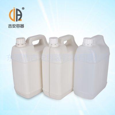 供应化工罐 5L扁罐 透明线 5kg化工桶塑料包装桶