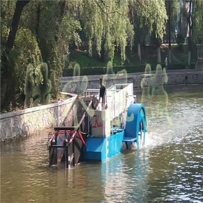 供应小型河道水花生打捞船,水浮莲清理机械,湖面水垃圾保洁设备