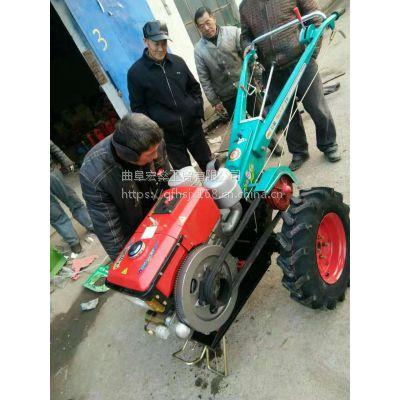手扶式除草犁地松土旋耕机 22马力小型手扶拖拉机