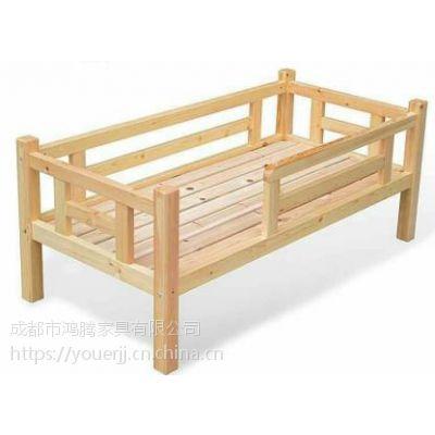 四川儿童实木双层床 幼儿单层实木床 松木学生床
