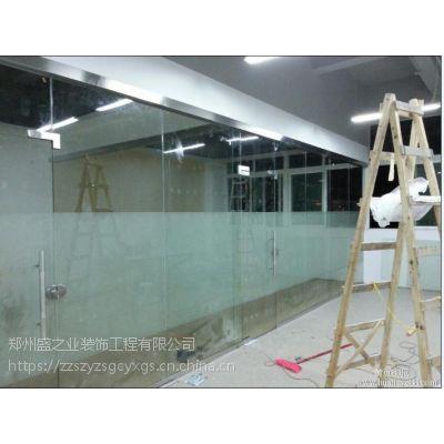 专业办公隔断 双层百叶玻璃隔断 定做门面玻璃门