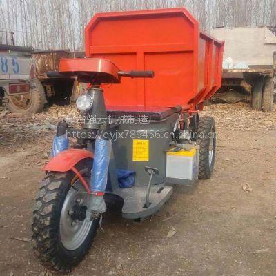 工地大马力柴油三轮车自卸载重砖厂货运车沙土混凝土运输车