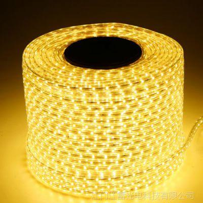 江雷LED灯条5050贴片60电阻工厂直销户外防水IP65高压灯带220V