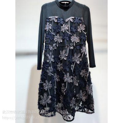 艾薇儿时尚欧美连衣裙17春批发女装哪里甘肃女装加盟连锁