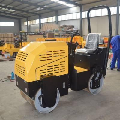 小型座驾式全液压压路机 双轮坐驾式一吨压路机