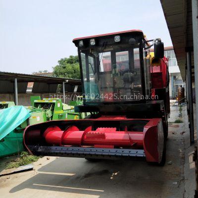 干湿农作物粉碎收割机 菏泽青储机厂家供应牧草粉碎回收机