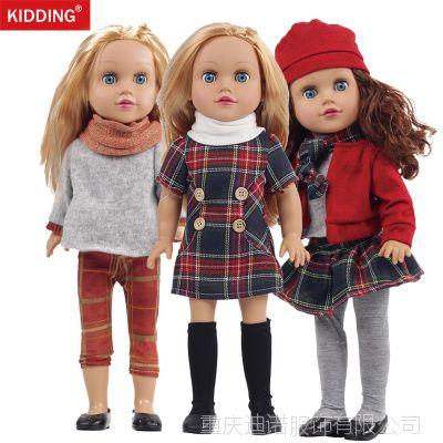 2018新款外贸热销18寸美国女孩娃娃衣服American girl洋娃娃