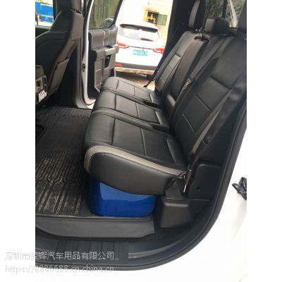15-17款福特猛禽F150后排杂物箱 置物箱改装 后排座椅下储物箱