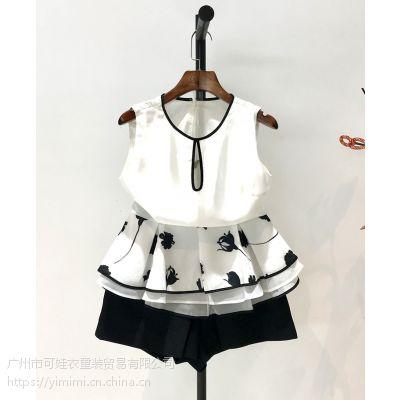 品牌折扣女装货源 太平鸟 欧时力风格 连衣裙品牌尾货女装夏新款上衣批发