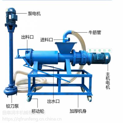 生猪粪污用挤干机 润丰 用液下泵抽粪干湿分离机