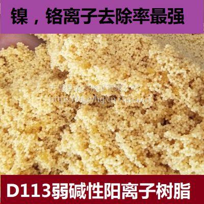 瑞友加工销售离子交换树脂D113弱碱性阳离子交换树脂 除镍,铬专用