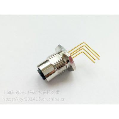 科迎法M12面板法兰插座-M12信号插座