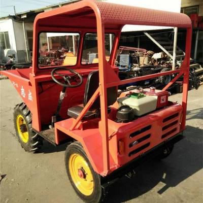 厂家生产小型运输翻斗车 电启动液压前卸翻斗铲车 混凝土工程四轮车