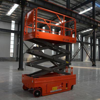 金创厂家直销自行走式升降机液压轮行走货梯8米10米12米14米登高梯ZXZ0.3-8