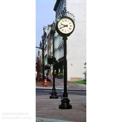 提供定制康巴丝室外照明路边站钟 街道景观钟