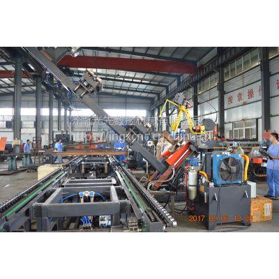 H型钢焊接生产线 济南光先 自动焊接流水线