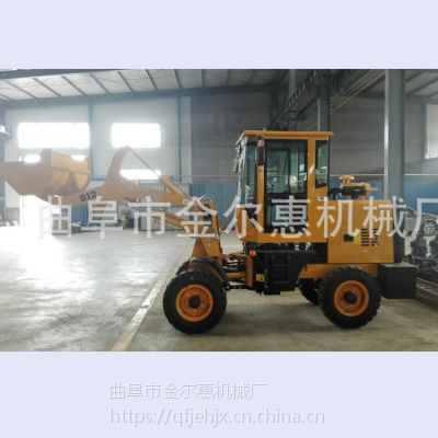 金尔惠山东卸载高度轮式装载机 小型多功能装载机规格 生产装载抓草铲车