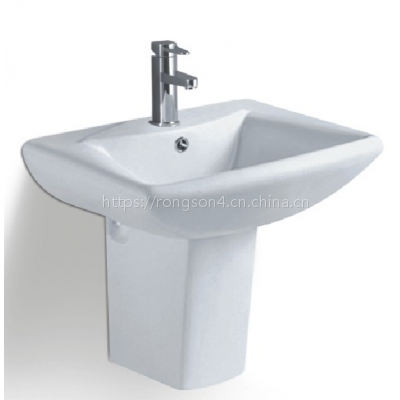 挂墙式台上陶瓷方形简约卫生间分体出口畅销款式盆