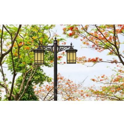 广胜新农村建设户外防水路灯 双头/三头中式复古led庭院灯