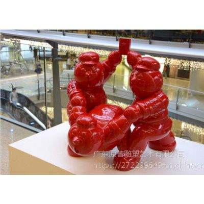 抽象人物小品雕塑的思想广场商场美陈摆件东莞雕塑厂家订制