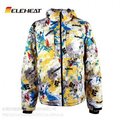 L/M厂家登山衣滑雪服透气智能电加热服防水防风骑行冲锋衣男式户外服ELEHEAT