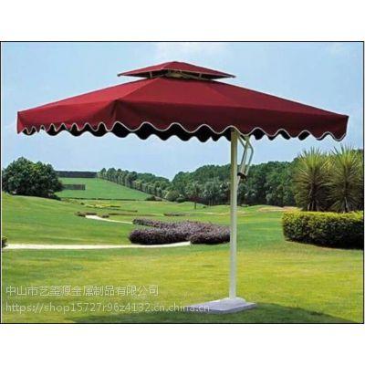 厂家直销铝合金单边伞 铝合金户外遮阳伞 铝合金保安岗台侧立伞可印刷logo