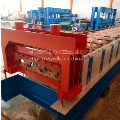 750楼承板机 镀锌承重板压瓦机 建筑楼房承重板成型机