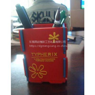 供应pvc软胶笔筒 PVC拼接笔筒 微量射出笔筒 可来图来样加工定制