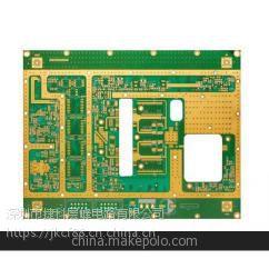 定制6层ROGERS+FR4 pcb通信功率放大器高频线路板 高频电路板