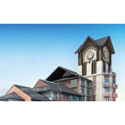 浙江商业大楼上的大钟/楼顶大型钟-华声钟表按需设计定制