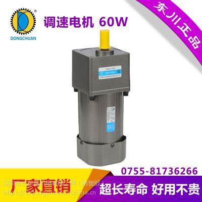 东川60W电机 微型齿轮减速电机 可逆转220V交流调速定速电机