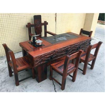 厂家直销老船木仿古茶台实木龙骨茶桌椅老船木酒吧台