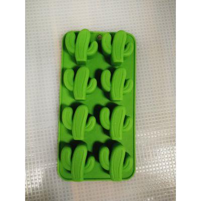硅胶8孔仙人掌蛋糕冰格模具热带植物冰格糖模食品级硅胶巧克力模DIY烘焙餐具